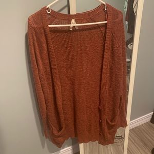 Mauve Cardigan Sweater